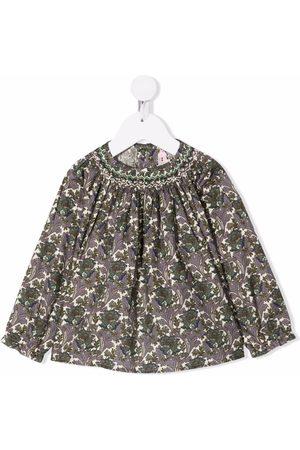 BONPOINT Baby Bluser - Floral-print cotton blouse