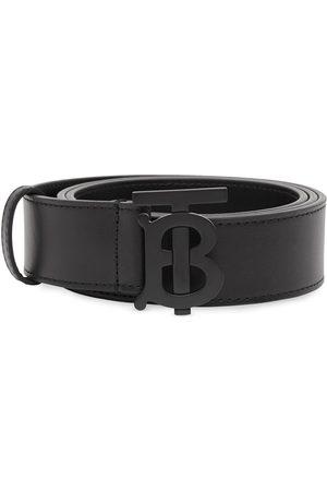 Burberry Herre Belter - Monogram-buckle leather belt