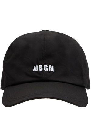 Msgm Logo Embroidery Cotton Canvas Cap