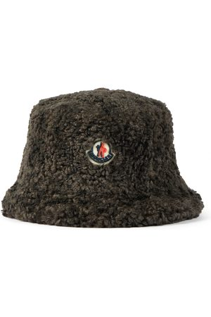 Moncler Dame Hatter - Logo faux shearling bucket hat