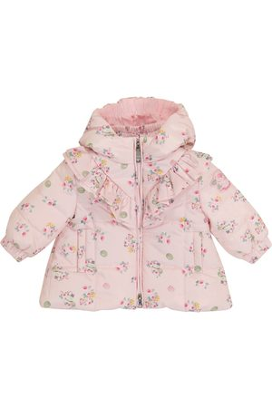 MONNALISA Baby floral quilted coat