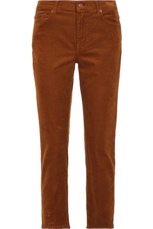 7 for all Mankind The Straight Crop corduroy jeans