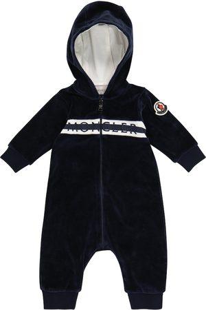 Moncler Baby logo chenille onesie