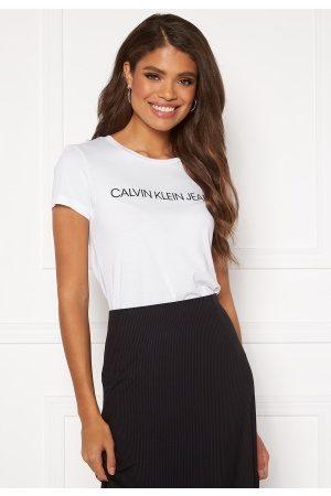 Calvin Klein Instit L Slim Fit Tee 112 Bright White XXS