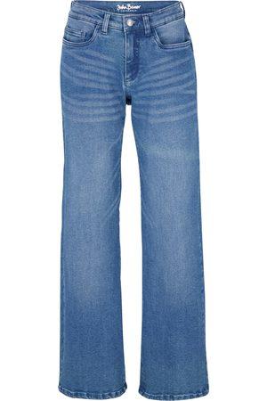 bonprix Stretch-jeans, Open end denim, wide leg