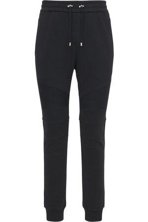 Balmain B Logo Cotton Jersey Sweatpants