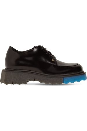 OFF-WHITE 40mm Brushed Leather Lace-up Shoes