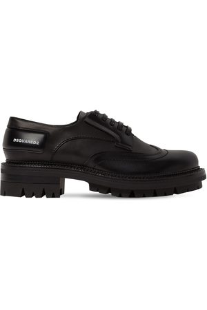 Dsquared2 New Tudor Brushed Leather Derby Shoes