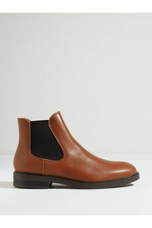 Selected Homme Herre Chelsea boots - Slhblake Leather Chelsea Boot B Noo Chelsea boots Cognac