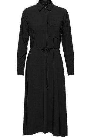 Calvin Klein Viscose Poplin Ls Midi Dress Dresses Everyday Dresses