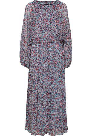 ROTATE Dame Maxikjoler - Carly Long Dress Maxikjole Festkjole Blå