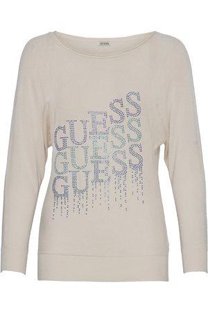 GUESS Jeans Dame Langermede - Claudine Bat Sleeve Swtr T-shirts & Tops Long-sleeved Blå