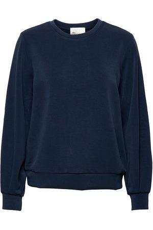 My Essential Wardrobe Dame Sweatshirts - 23 The Sweat Blouse Sweat-shirt Genser Blå