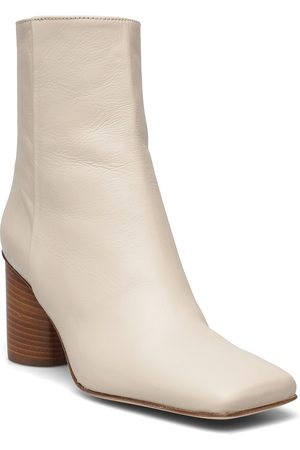Nude of Scandinavia Veronica Shoes Boots Ankle Boots Ankle Boot - Heel Creme