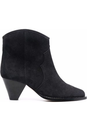 Isabel Marant Dame Skoletter - Mid-heel suede ankle-boots