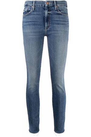 Mother Dame Skinny - Slim-fit raw-cut jeans