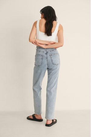 NA-KD Økologiske Rette Jeans Med Høyt Liv