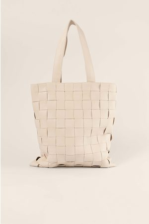 NA-KD Accessories Dame Tote bags - Flettet Tote Bag