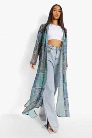 Boohoo Boho Printed Kimono