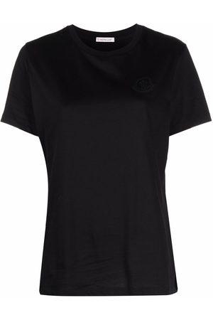 Moncler Dame Kortermede - Slogan print T-shirt