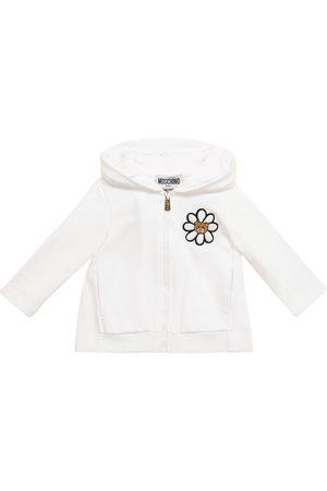 Moschino Kids Baby printed stretch-cotton hoodie