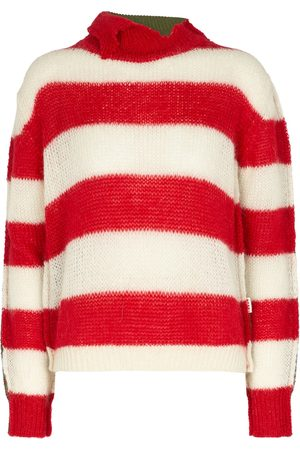 Marni Striped wool and mohair-blend sweater