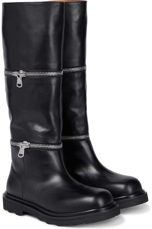 Marni Convertible leather ankle boots