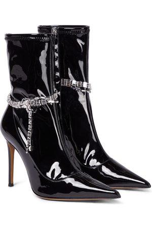 ALEXANDRE VAUTHIER Raquel 105 embellished PVC ankle boots