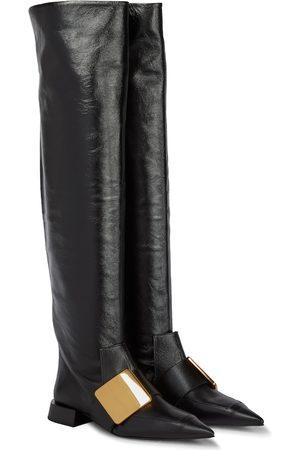 Jil Sander Dame Høye støvletter - Knee-high leather boots