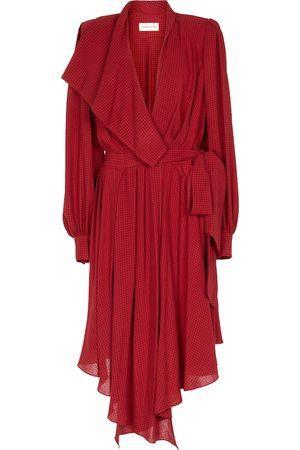 ALEXANDRE VAUTHIER Checked wrap dress