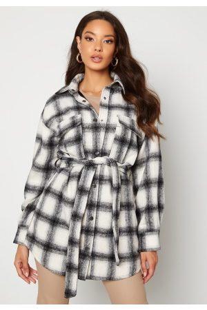 BUBBLEROOM Sonya Shirt Jacket White / Black / Checked XS