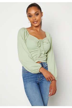 BUBBLEROOM Nadja soft blouse Dusty green XS