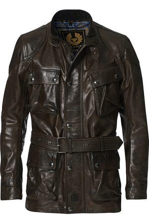 Belstaff Herre Skinnjakker - Trailmaster Panther 2.0 Leather Jacket Black/Brown