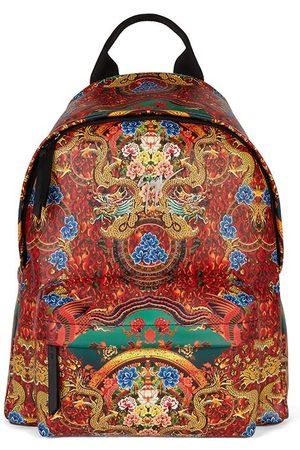 Giuseppe Zanotti Herre Ryggsekker - Bud oriental-print leather backpack