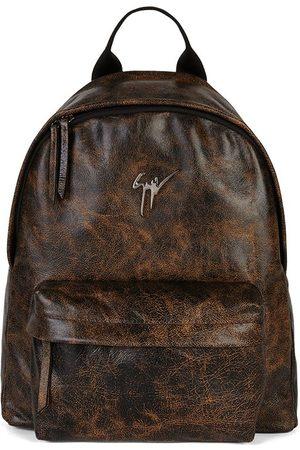 Giuseppe Zanotti Herre Ryggsekker - Bud leather logo-plaque backpack