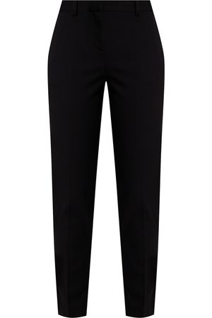 VERSACE Wool pleat-front trousers