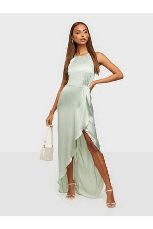 NLY Drapy Satin Gown Dusty Mint