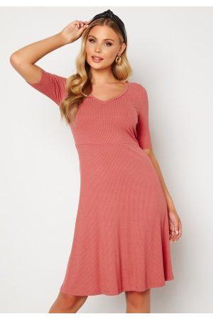 Happy Holly Dame Hverdagskjoler - Lindsey dress Dark dusty pink 52/54