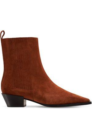 Aeyde 40mm Belinda Suede Ankle Boots