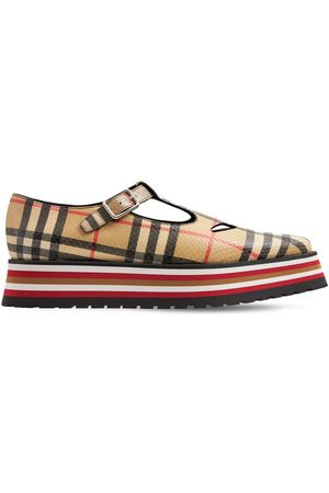 Burberry 45mm Aldwych Pointy Leather Check Wedges