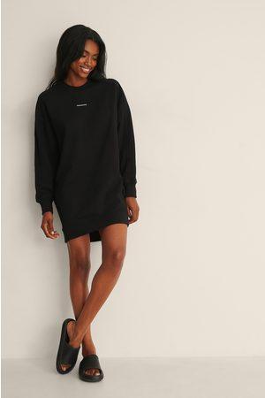Calvin Klein Micro Branding Crew Neck Dress
