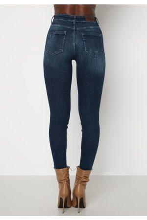 ONLY Blush Life Mid Ank Raw Jeans Dark Blue Denim S/30