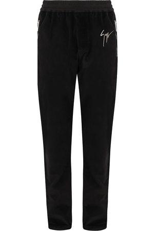 Giuseppe Zanotti Herre Joggebukser - Satin-trim velvet trousers