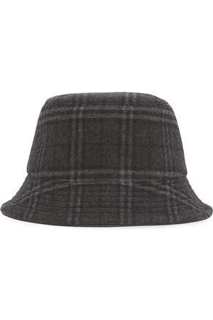 Burberry Herre Hatter - Check-print bucket hat