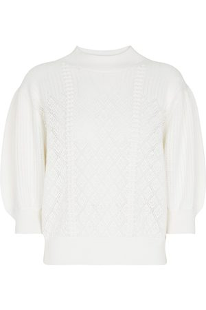 Chloé Pointelle wool and cotton sweater