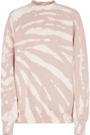 LES TIEN Tie-dye cotton fleece sweatshirt