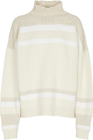 Barrie Striped cashmere turtleneck sweater
