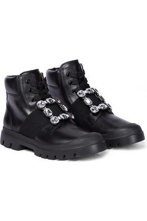 Roger Vivier Viv Desert leather ankle boots