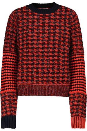 Victoria Beckham Houndstooth crewneck sweater