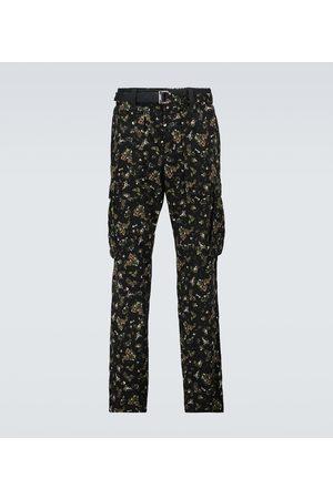 sacai Printed cargo pants